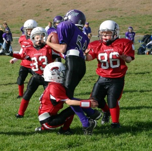 Tackling form youth football coaching defense