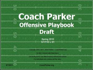 YOUTH PLAYBOOK OFFENSE SPREAD