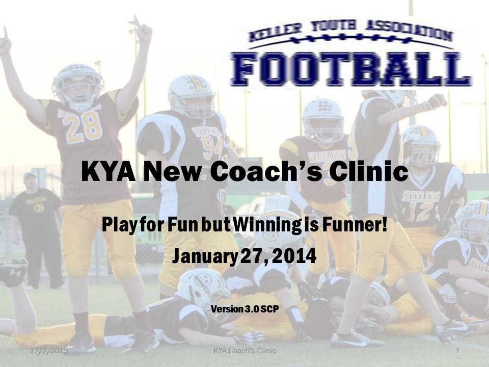 KYA Football Coach's Clinic