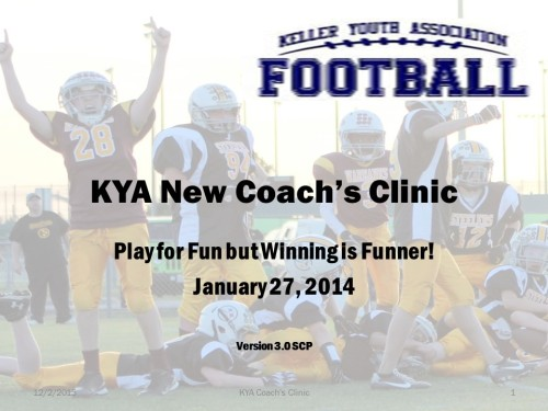 KYA Football Coach's Clinic