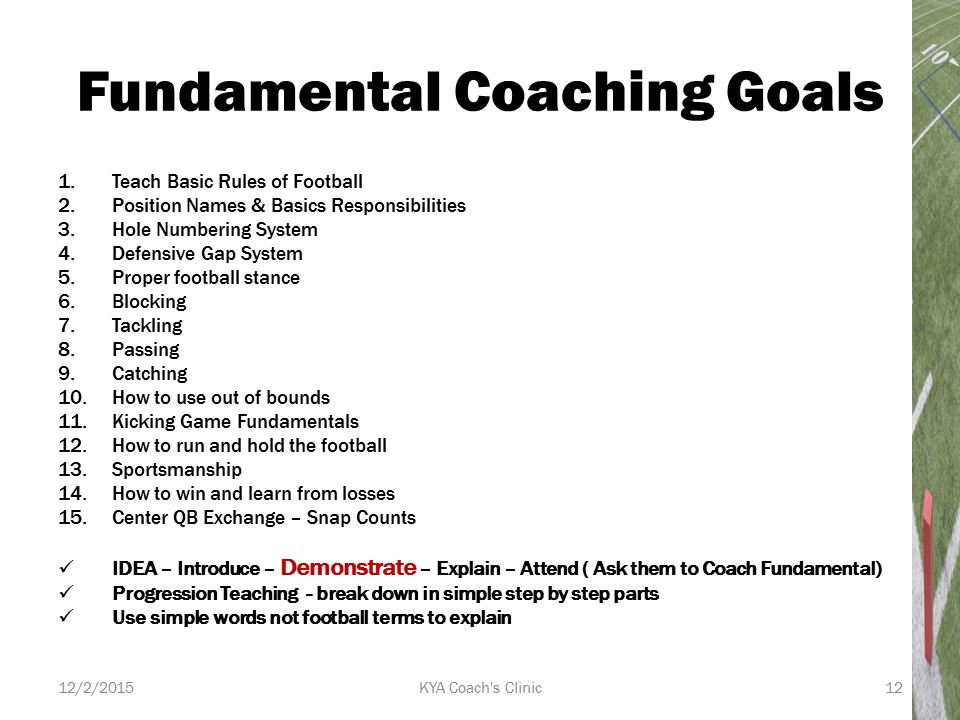 Youth Football Fundamentals