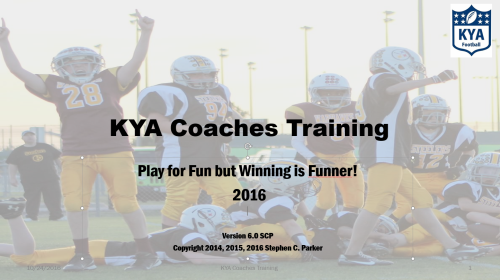 Free Coach's Clinnc on Youth Football