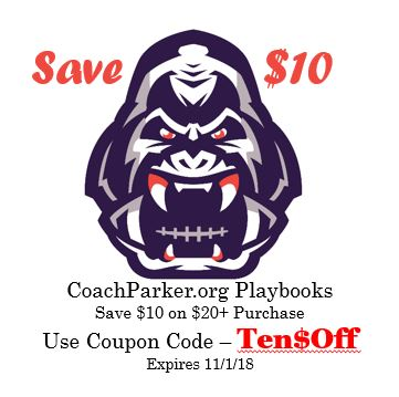 Youth Football Playbooks on Sale $10 Off