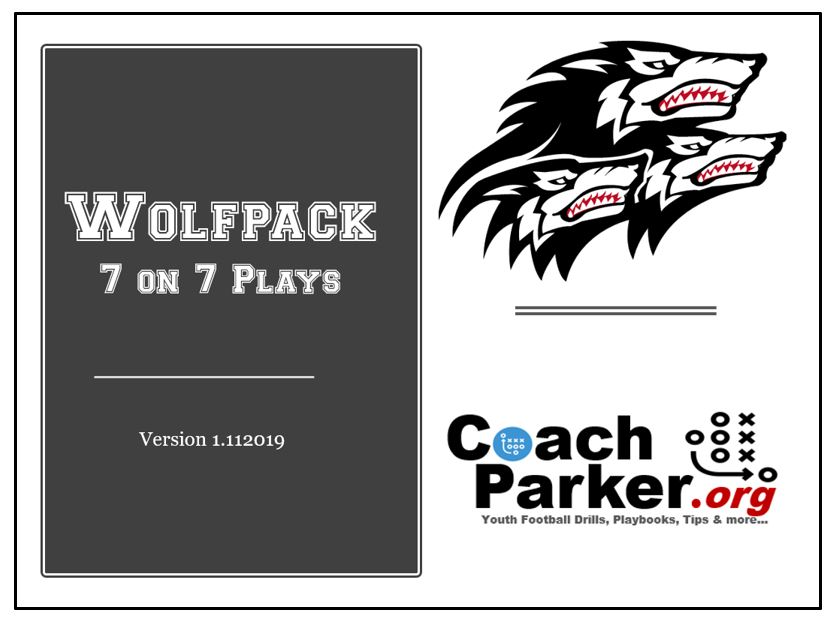 7 On 7 Playbook For Youth Football By Coach Parker Coaching Youth