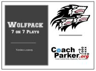 Coach Parkers 7on7 Plays and Playbook for youth football